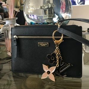 Kate Spade Leather Zippered Tinie Wristlet